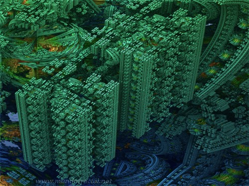 Mandelbulb's Green City